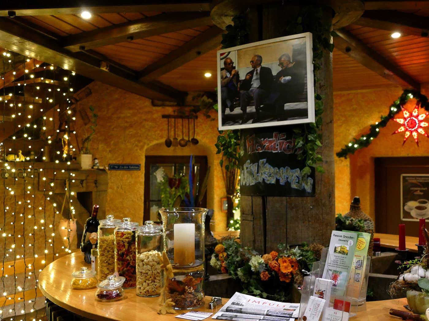 Eingangsbereich Italienisches Restaurant Leutewitzer Windmühle