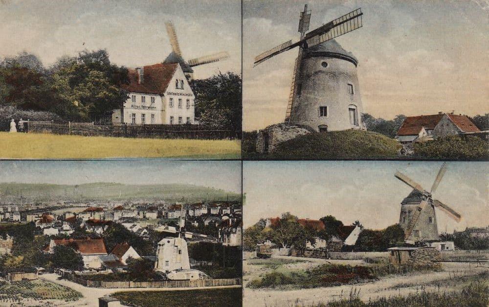 Leutewitzer Windmühle Postkarte 1913 - Döge & Adam, Dresden